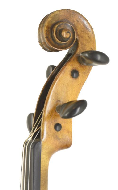 saechsische Viola 37,6 ca 1820 Scroll-1