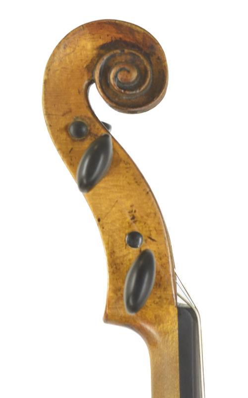 saechsische Viola 37,6 ca 1820 Scroll-2